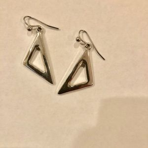 Jewelry - Silver triangle earrings